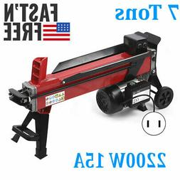 110V Electric Hydraulic Log Splitter Wood Portable Cutter Po