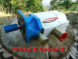 16 GPM Hydraulic Log Splitter Pump, 2 Stage Hi Lo Gear Pump,