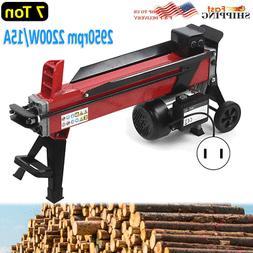 Electric Hydraulic Log Splitter 2200W Wood Axe 7 Ton 520mm L