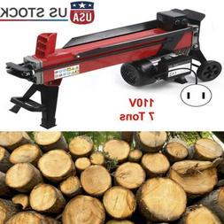 Electric Hydraulic Log Splitter Wood Portable Cutter Powerfu