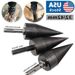 High Speed Twist Firewood Drill Bit Wood Splitter Screw Spli