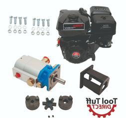 Log Splitter Build Kit: 9 HP Engine w/ 16 gpm Pump & Mountin