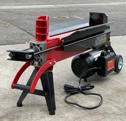 Portable Horizontal Wood Log Splitter Electric Hydraulic Pow